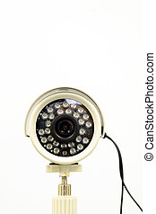 cctv camera - a cctv camera in white background