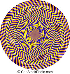 Optical illusion - Vector spiral optical illusion in white...