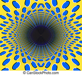 black hole optical illusion abstract desgin with geometric...