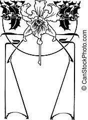 Flower art deco - Vector illustration