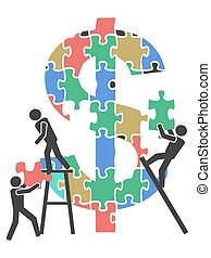 teamwork money sign Jigsaw puzzle