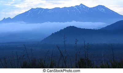 volcano - Mt Ruapehu in Tongariro National Park, New...