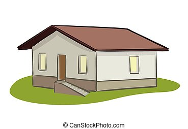 vector small house - illustration
