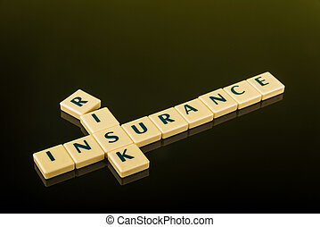 risk insurance blocks - Business concept of risk management...
