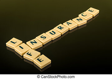 Life insurance letter blocks - Business concept of life...
