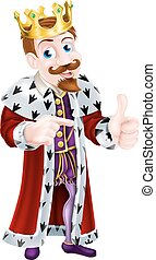 Illustration of Cartoon King - Cartoon king character...