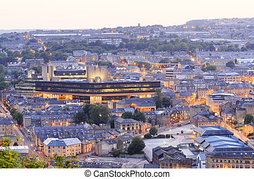 Halifax at dusk - Halifax, England - august 12th, 2015:...