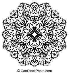 Flower, vector mandala.
