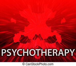Psychotherapy inkblot background - Psychiatric treatment...