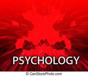 Psychology inkblot background - Psychiatric treatment...