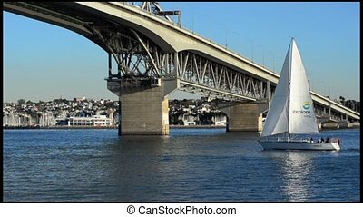 Auckland Harbour Bridge New Zealand - Auckland Harbor Bridge...