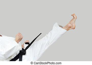 Blow Mae-geri beats sportsman - Blow Mae-geri in the...