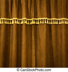 Brown velvet certain - Brown velvet closed certain pattern...
