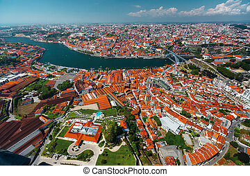 Porto city aerial view - Aerial shot of the city of Porto...