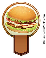 Banner of a hamburger