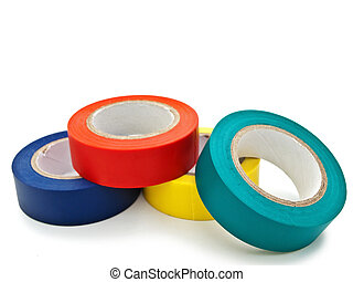 insulating tape - Photo of multicolored insulating tapes...