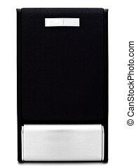 loudspeaker - Single modern loudspeaker against the white...