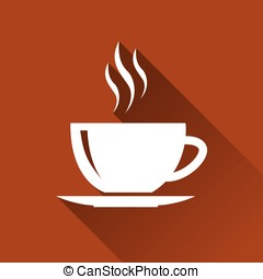 cup of tea or coffee - illustration of hot cup of tea or...