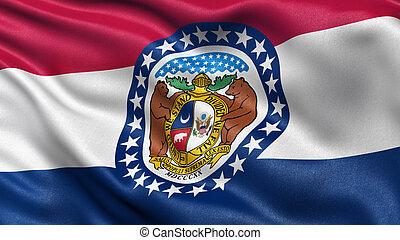 US state flag of Missouri