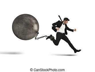 Businessman runs despite impediment - Determined businessman...