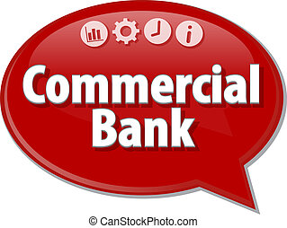 Commercial Bank  Business term speech bubble illustration