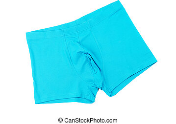 Boxer briefs isolated on a white - Blue men's Boxer briefs...