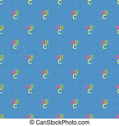 seamless pattern with letters of the ABC. Vector...