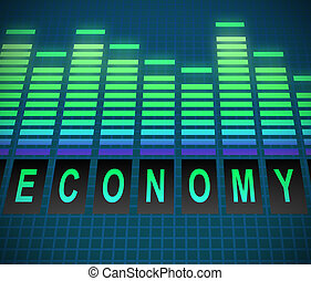 Economy concept. - Illustration depicting graphic equalizer...
