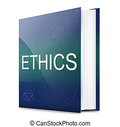 Ethics concept. - Illustration depicting a text book with an...