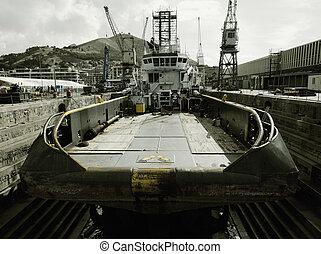 Ocean tug at dry dock