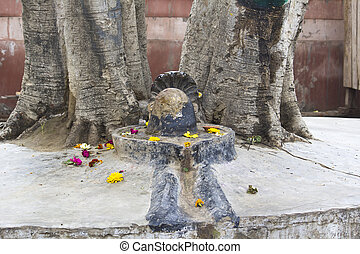 Shiva-lingam, deity of Lord Shiva, in Vrindavan