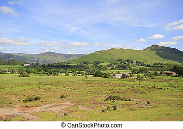 The picturesque lake District in Cumbria England