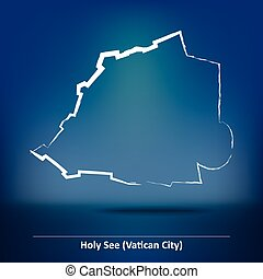 Doodle Map of Vatican