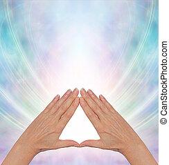 energia, piramide, guarigione, potere