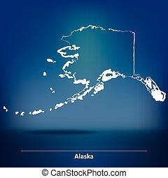 Doodle Map of Alaska