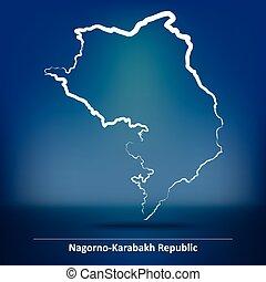 Map of Nagorno-Karabakh Republic