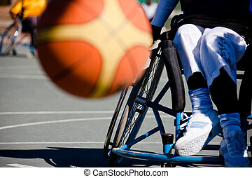 paralympics games - paralympic games, basketball player in...