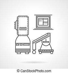 MRI equipment line vector icon - Set of medical diagnostic...