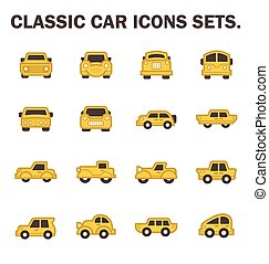 classic car - Classic car icons sets.