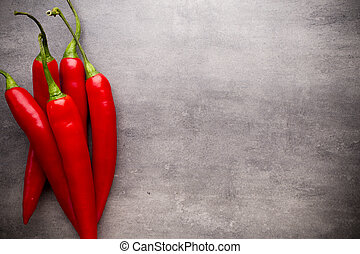 Chilli pepper - Chilli pepper on the grey background