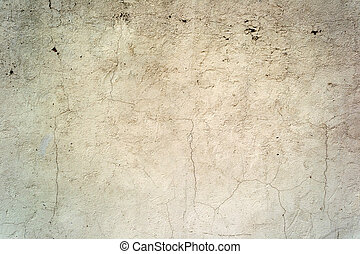 Cracked concrete painted wall background or texture Close-up...