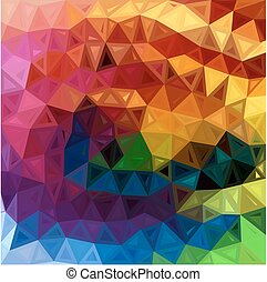 Rainbow colors abstract triangles background - Rainbow...