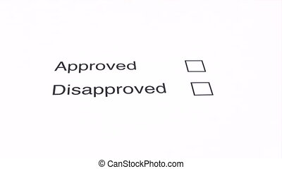 Not Approved - Marking the DISAPPROVED checkbox on a...