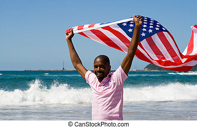american dream - an african american man holding the...