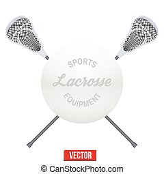 Lacrosse ball and sticks Symbol of sports Vector...