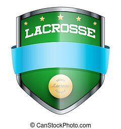 Lacrosse Shield badge The symbol of the sports club or team...