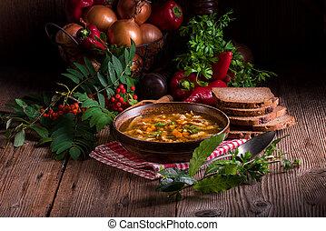 polaco, carne de vaca, tripa, sopa,