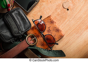 Leather accessories and bags