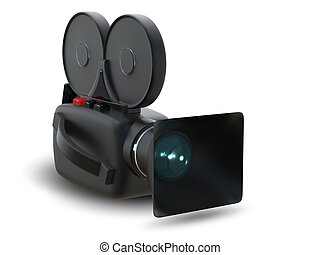 Camcorder - illustration insulated object video camera on...