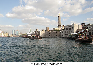 The old quater - Dubai creek - The old quarter at the Dubai...
